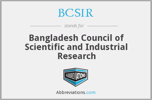 What does BCSIR stand for?