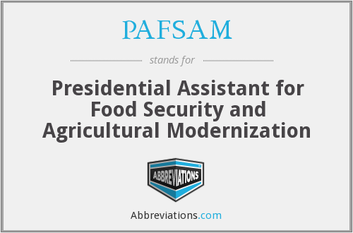 What does PAFSAM stand for?