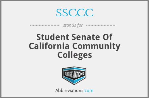 SSCCC - Student Senate Of California Community Colleges