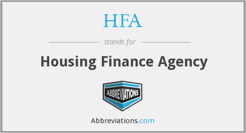 HFA - Housing Finance Agency