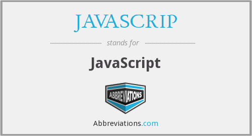 What does JAVASCRIP stand for?