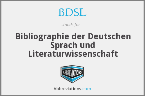 BDSL - Bibliographie der Deutschen Sprach und Literaturwissenschaft