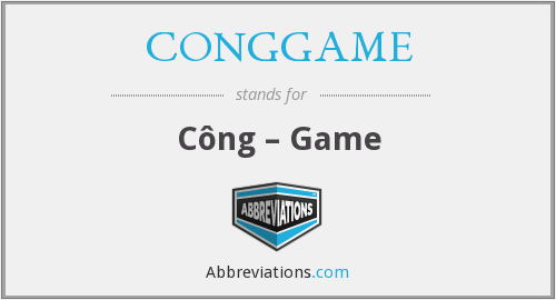 What does CONGGAME stand for?