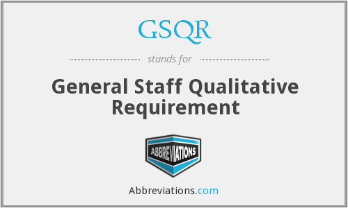 What does GSQR stand for?