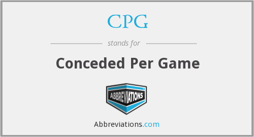 CPG - Conceded Per Game