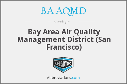 What does BAAQMD stand for?