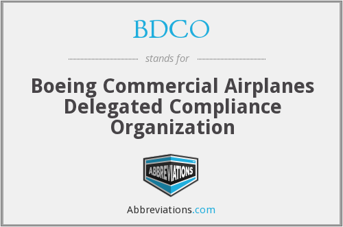 What does BDCO stand for?