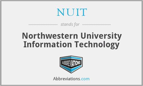 NUIT - Northwestern University Information Technology