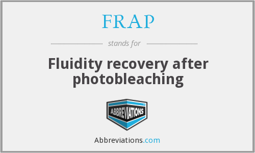 FRAP - Fluidity recovery after photobleaching