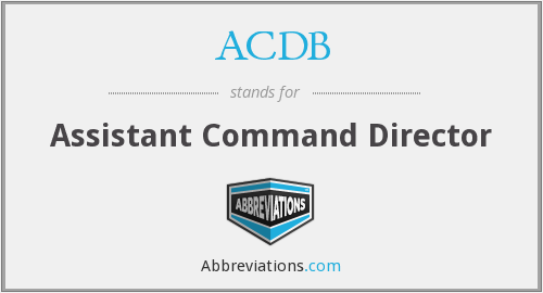 ACDB - Assistant Command Director