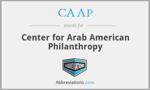 CAAP - Center for Arab American Philanthropy