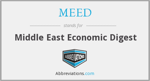 What does MEED stand for?