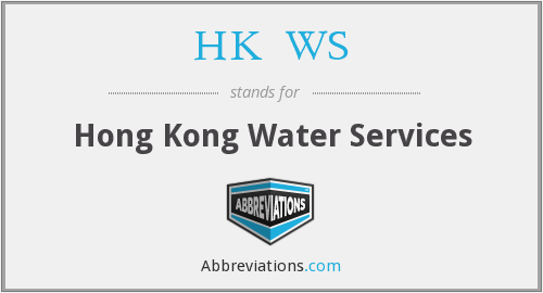 What does HK↑WS stand for?
