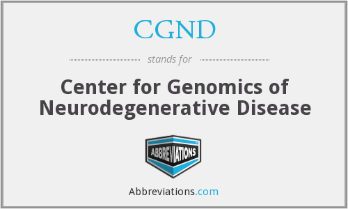 CGND - Center for Genomics of Neurodegenerative Disease