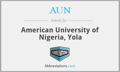 AUN - American University of Nigeria, Yola