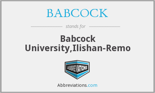 What does BABCOCK stand for?