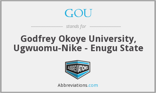 GOU - Godfrey Okoye University, Ugwuomu-Nike - Enugu State
