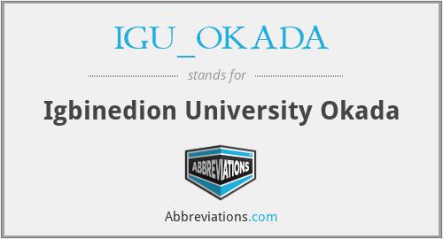 IGU_OKADA - Igbinedion University Okada