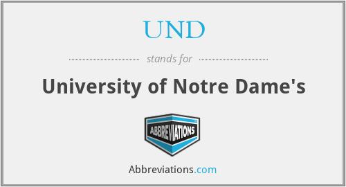 UND - University of Notre Dame's