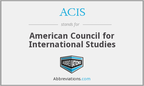 ACIS - American Council for International Studies
