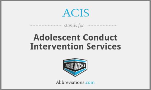 ACIS - Adolescent Conduct Intervention Services