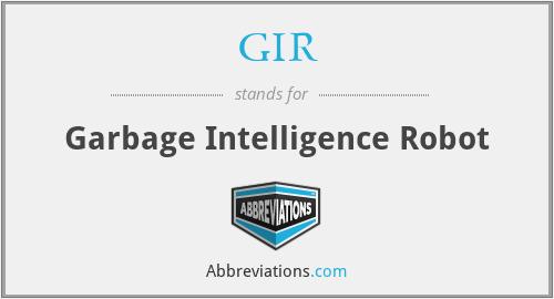 GIR - Garbage Intelegence Robot