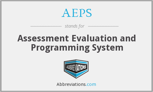 AEPS - Assessment Evaluation and Programming System