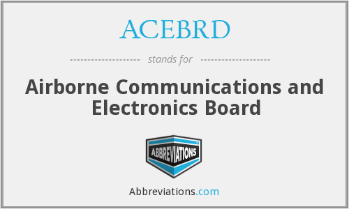 What does ACEBRD stand for?