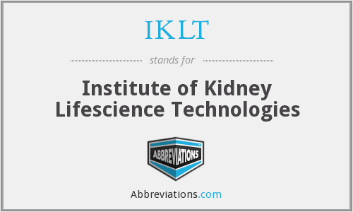 What does IKLT stand for?
