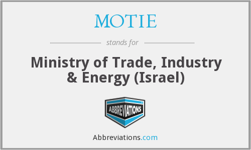 What does MOTIE stand for?