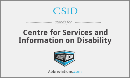 What does CSID stand for?