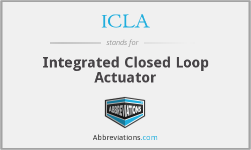 ICLA - Integrated Closed Loop Actuator