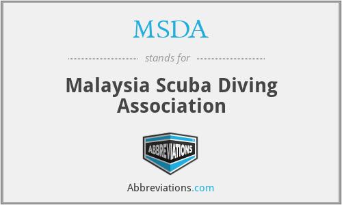 MSDA - Malaysia Scuba Diving Association