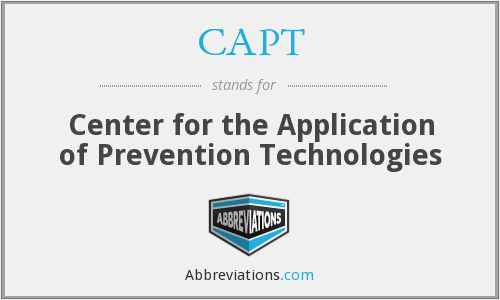CAPT - Center for the Application of Prevention Technologies