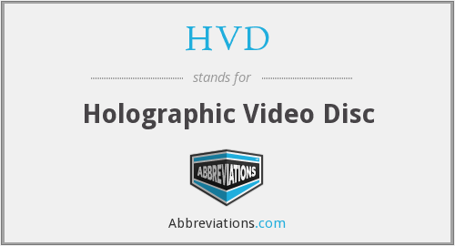 HVD - Holographic Video Disc