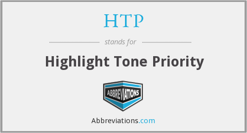 HTP - Highlight Tone Priority