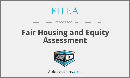 What does FHEA stand for?