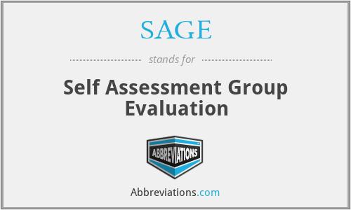 SAGE - Self Assessment Group Evaluation