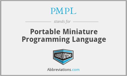 PMPL - Portable Miniature Programming Language