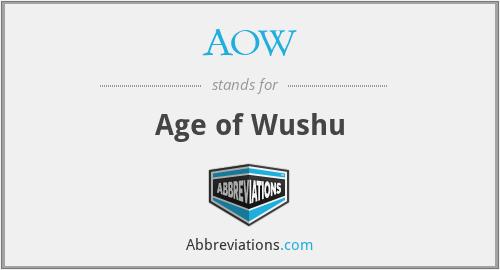 AOW - Age of Wushu