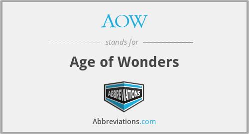 AOW - Age of Wonders