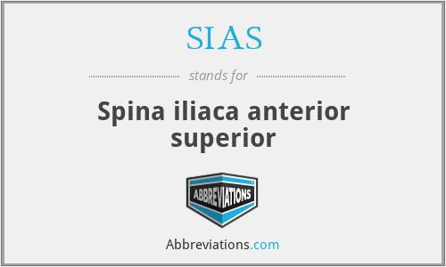SIAS - Spina iliaca anterior superior
