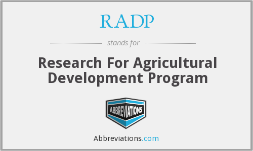 RADP - Research For Agricultural Development Program