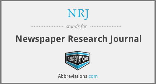 NRJ - Newspaper Research Journal