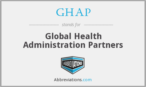 What does GHAP stand for?