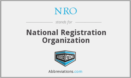 NRO - National Registration Organization