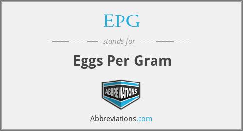 EPG - Eggs Per Gram