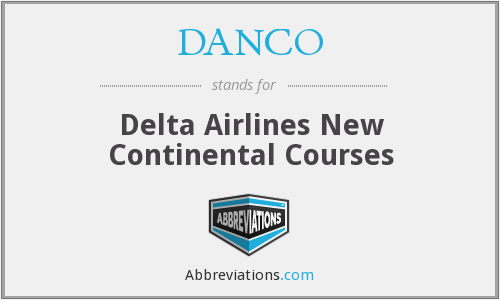 DANCO - Delta Airlines New Continental Courses