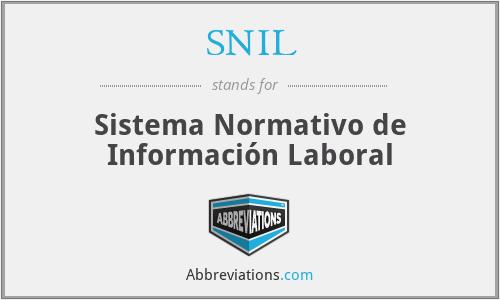 SNIL - Sistema Normativo de Información Laboral