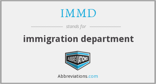What does IMMD stand for?